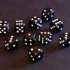 12mm Opaque Spot Dice - Black